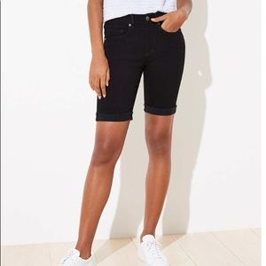 LOFT NWT Women's Skinny Denim Bermuda Shorts